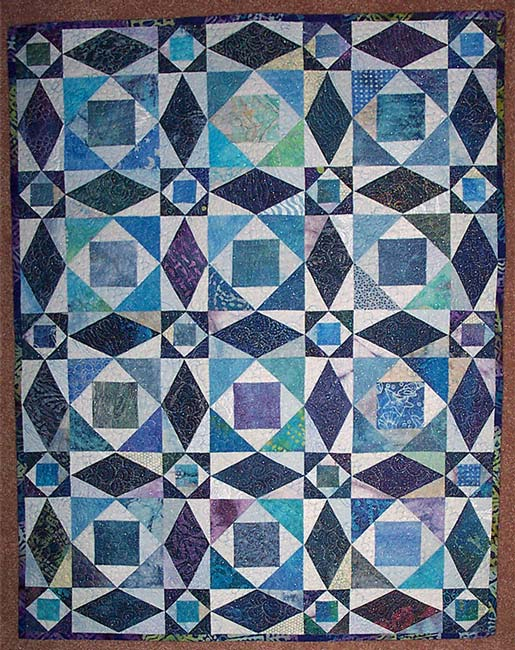 batiks heavy free motion non marked quilting over shimmering netting ...